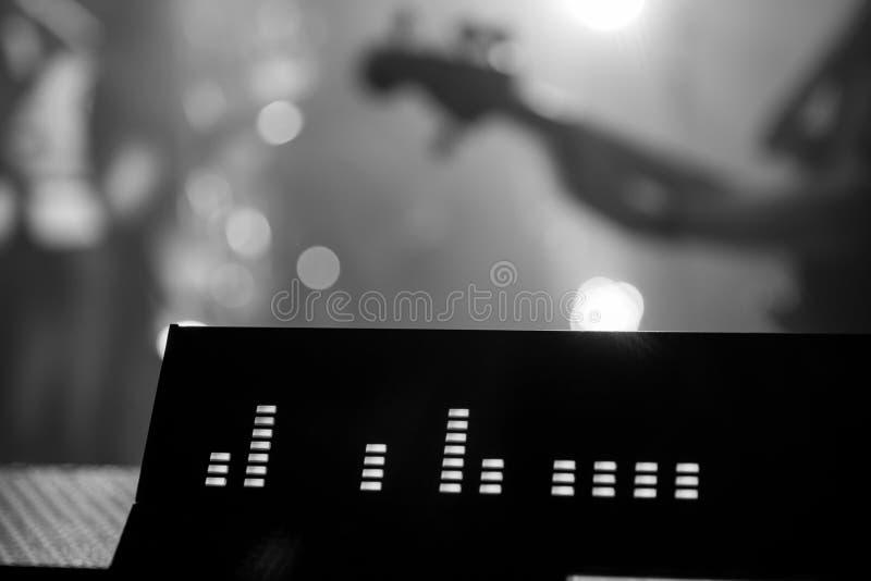 Pro console de mélange audio au festival image libre de droits