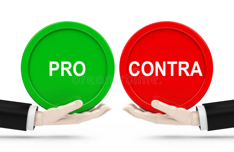 Pro and contra stock illustration. Illustration of rate