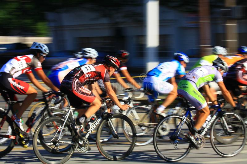 Pro Cyclist racing event royalty free stock photos