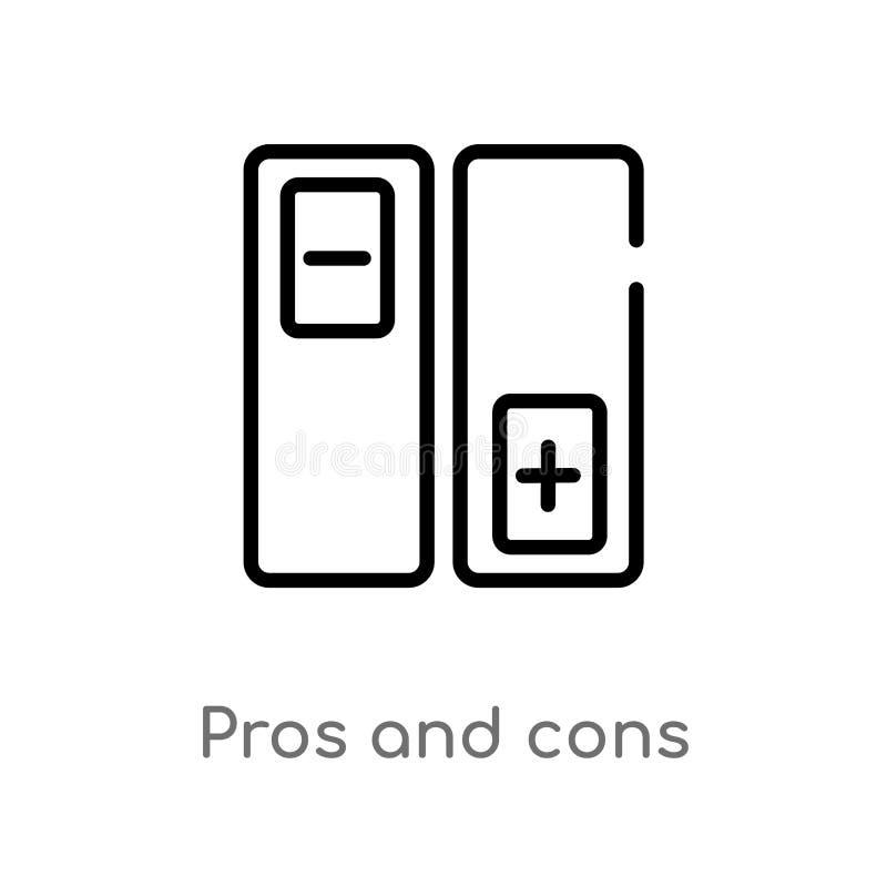 pro del profilo - e - icona di vettore di contro linea semplice nera isolata illustrazione dell'elemento dal concetto sociale Col illustrazione vettoriale