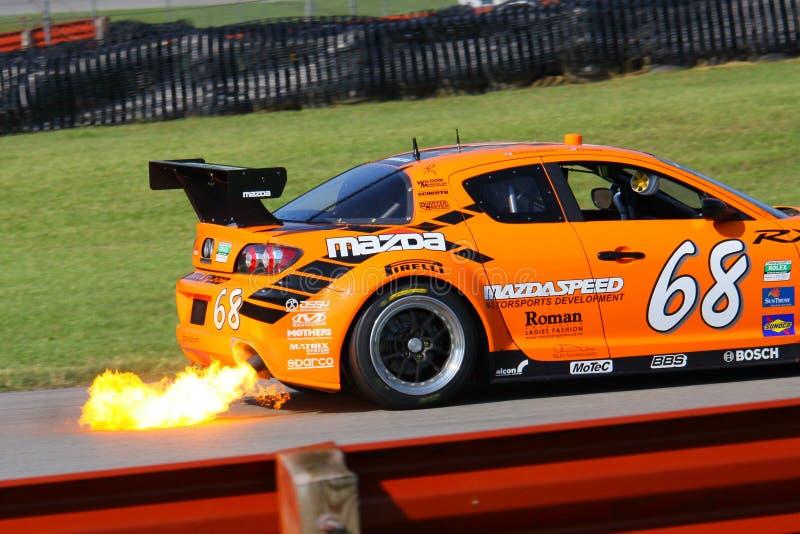 Pro driver di John Edwards fotografia stock