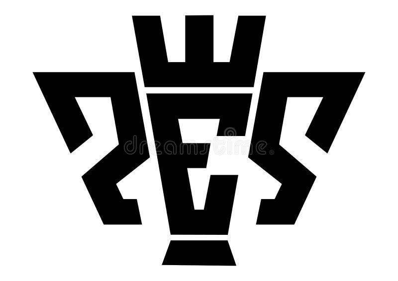 Pro Evolution Soccer logo royalty ilustracja