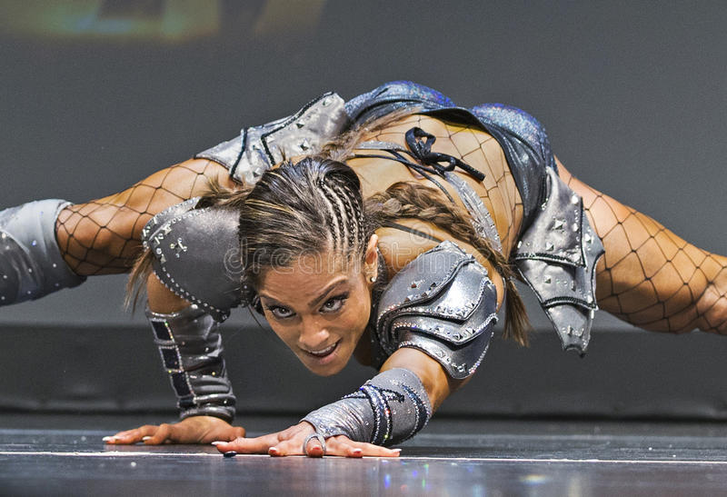 Pro Fitness Star in Warrior Costume royalty free stock photo