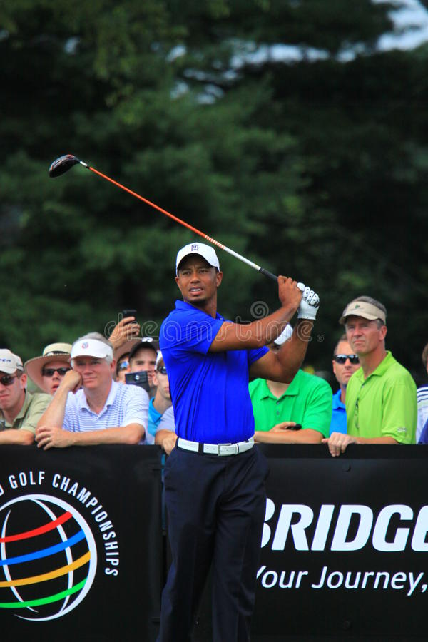 Pro golfeur Tiger Woods image stock