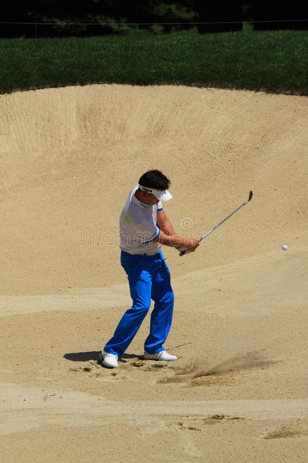 Pro golfeur Y E yang photographie stock libre de droits