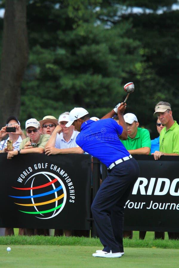 Pro golfista Tiger Woods fotografia stock