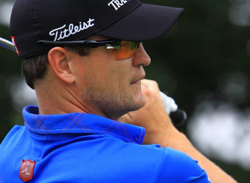 Pro jogador de golfe Zach Johnson imagens de stock