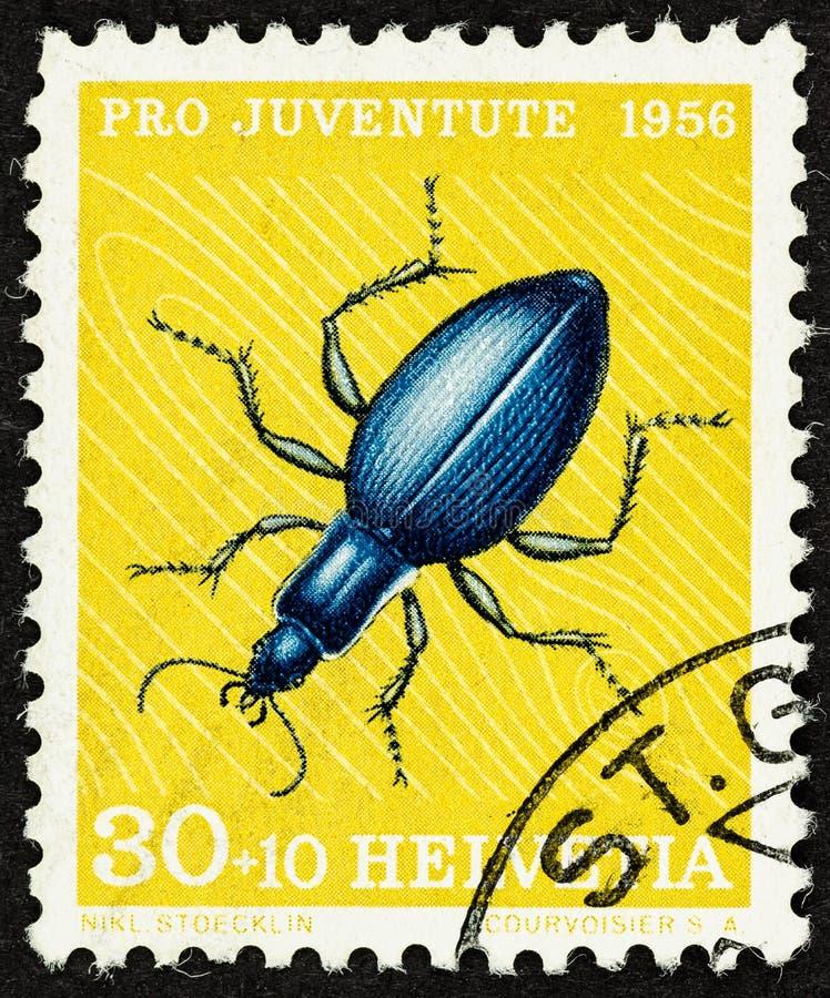 Pro Juventute timbre suisse de 1956 photo libre de droits