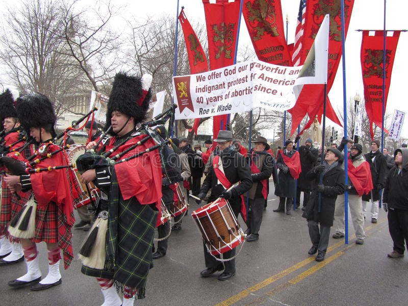 Download Pro Life Marching Band editorial photography. Image of band - 28852087