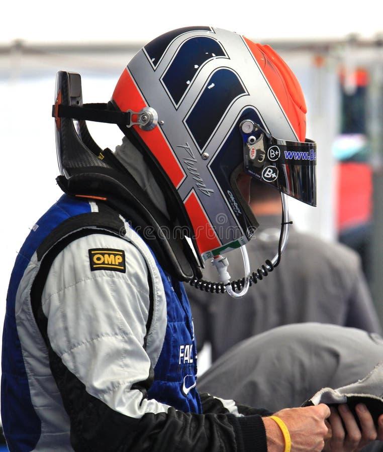 Pro motorista Matt Plumb imagem de stock royalty free