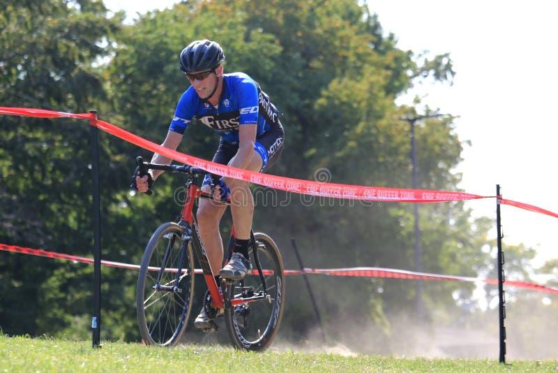 Pro offroad cyklista fotografia royalty free