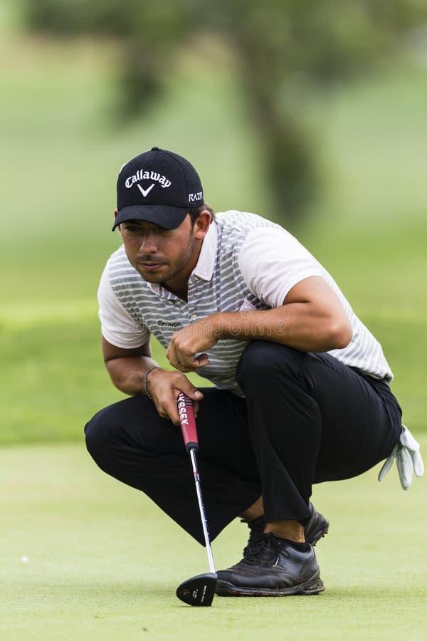 Pro Pablo Larrazabal för Golf Putt arkivfoto