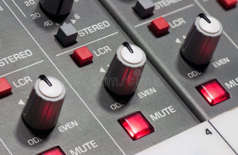 Pro panneau de mélange sonore photos libres de droits
