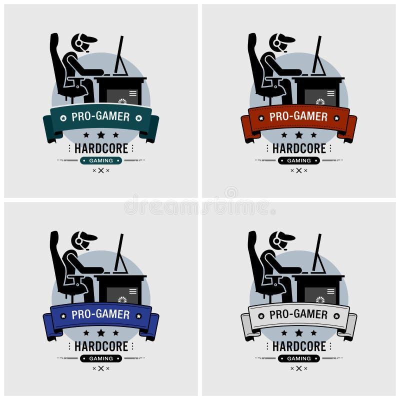 Pro projeto do logotipo dos esports do gamer ilustração stock