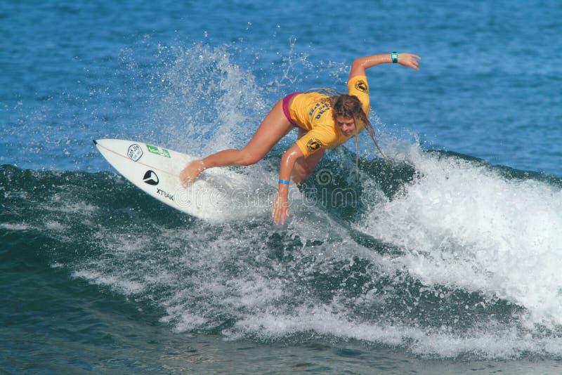 Pro surfer Amy Nichols stock photo