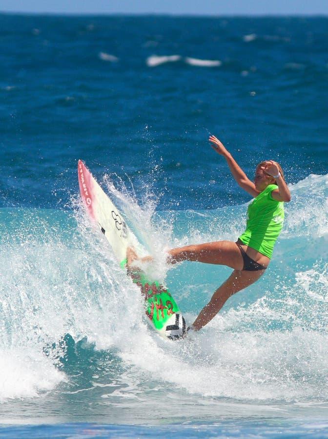 Pro surfer girl royalty free stock photo