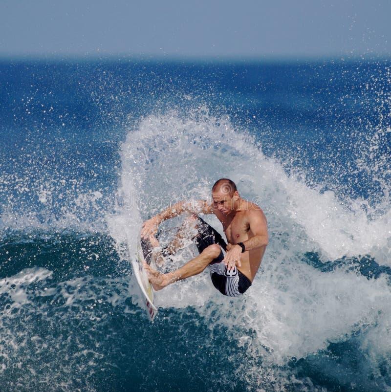 Pro surfer Shane Dorian stock afbeelding
