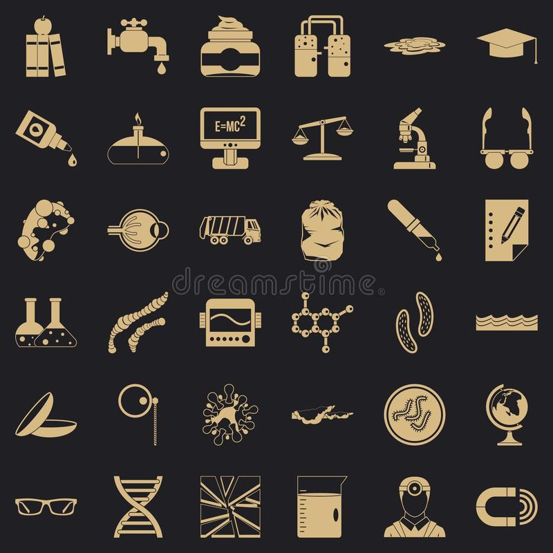Pro technical icons set, simple style. Pro technical icons set. Simple set of 36 pro technical vector icons for web for any design royalty free illustration