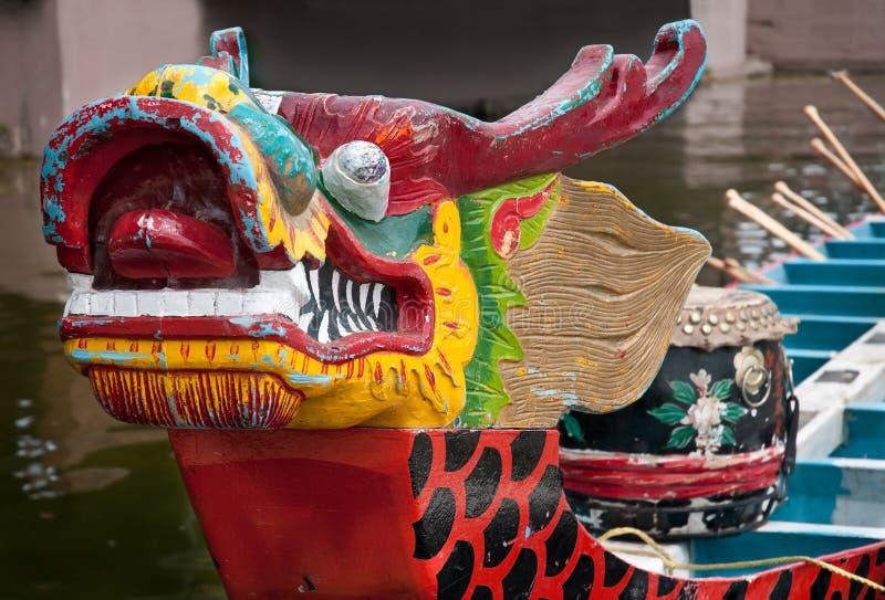 Proa del barco del dragón imagenes de archivo