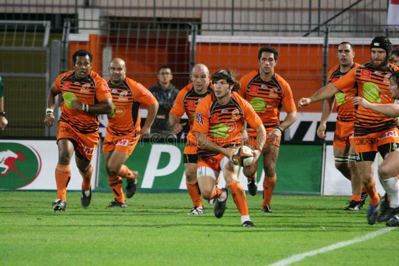 Proabgleichung RCNM des Rugbys D2 gegen Stade Montois lizenzfreies stockfoto