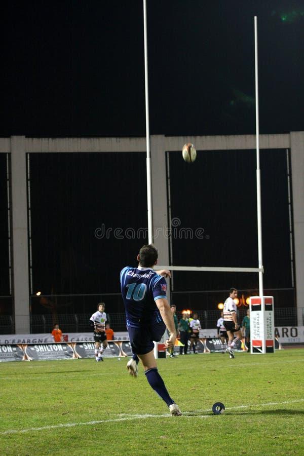 Proabgleichung RCNM des Rugbys D2 gegen US Colomiers lizenzfreie stockbilder