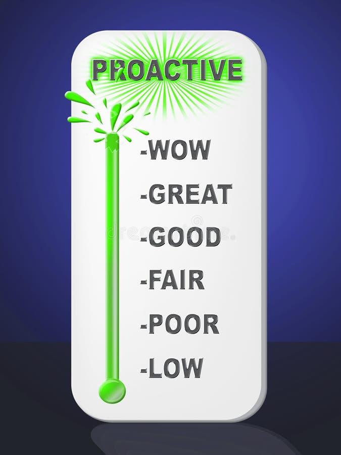 Proactive Vs Reactive Icon Representing Taking Aggressive Initiative Or Reacting - 3d Illustration vector illustration