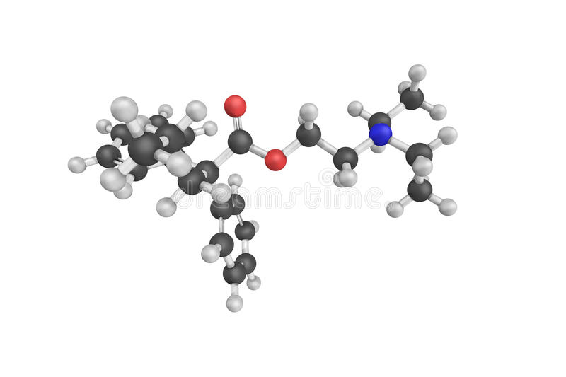 Proadifen, a non-selective inhibitor of cytochrome P450 enzymes, preventing some types of drug metabolism. It is also. An inhibitor of neuronal nitric oxide royalty free stock images