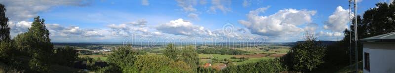 Probabilidade panorâmico da montanha Schlossberg em Baviera imagens de stock royalty free