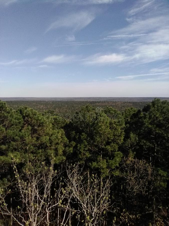 Probabilidade sobre o lado do país em Oklahoma fotografia de stock