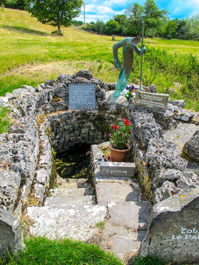 St Patrick's Well, Ballintubber Abbey stock images