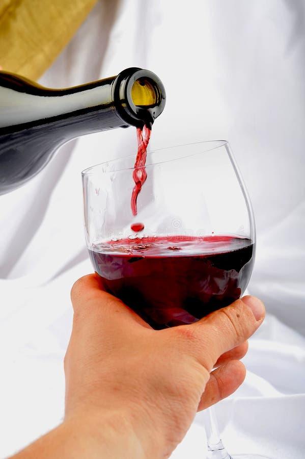 Probar el vino rojo imagen de archivo libre de regalías