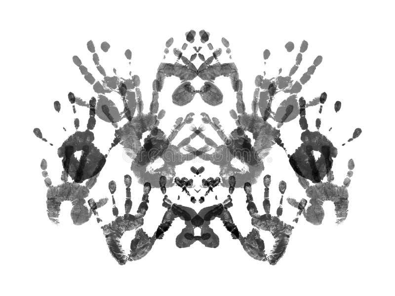 Probe von Rorshach-Test stockfoto