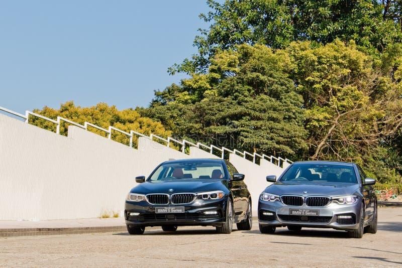 Probefahrt-Tag BMWs 5-Series 2017 stockfotografie