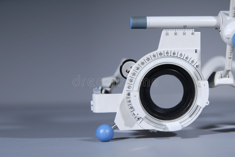 Probefeld des Optometrikers stockfoto