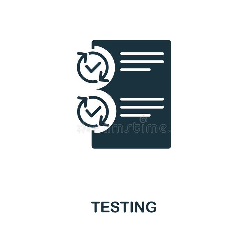 Probiercza ikona Monochrom ikony stylowy projekt od zarządzanie projektem ikony kolekcji Ui Ilustracja probiercza ikona przygotow ilustracji