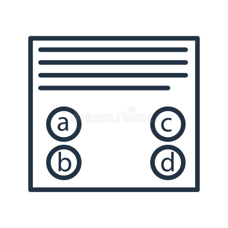 Probierczy ikona wektor odizolowywający na białym tle, Bada znaka ilustracja wektor