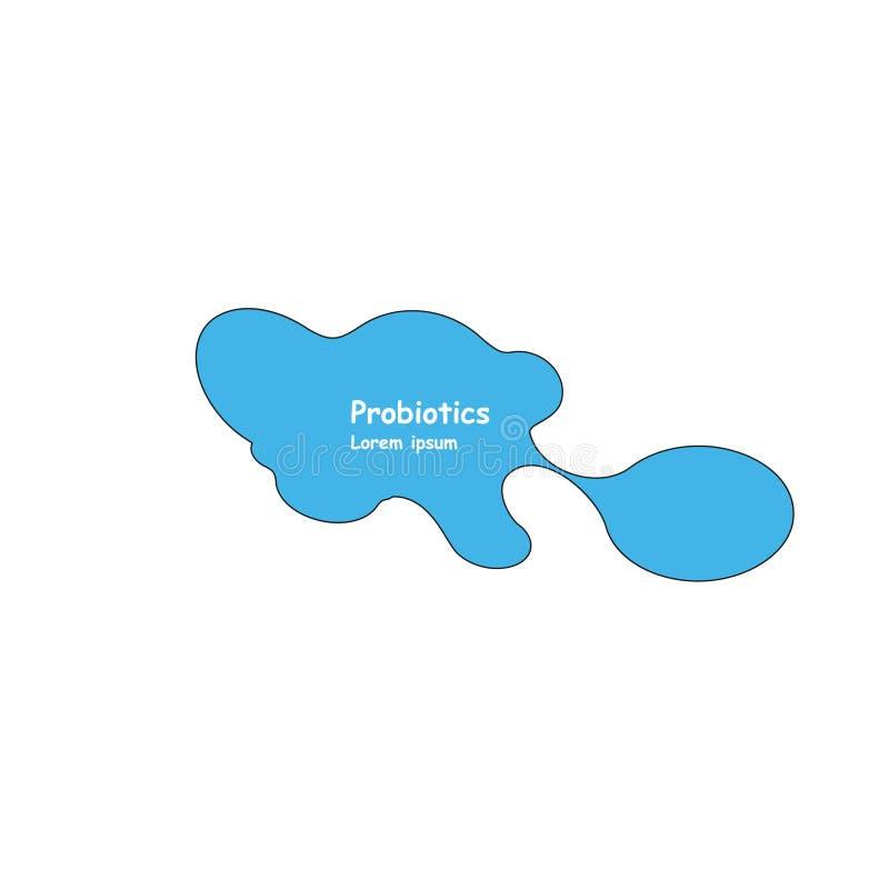 Probiotics bacteria vector design. Probiotics bacteria vector design. Concept of design with Lactobacillus Probiotic stock illustration