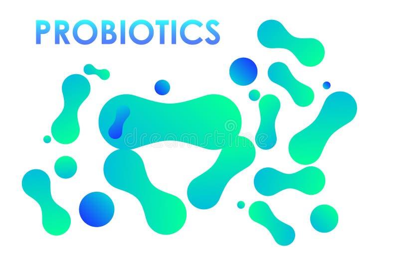 Probiotics-Bakterien EPS10 lizenzfreie abbildung