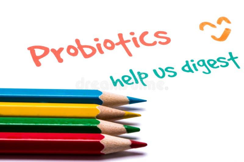 Probiotics nous aident à digérer photographie stock libre de droits