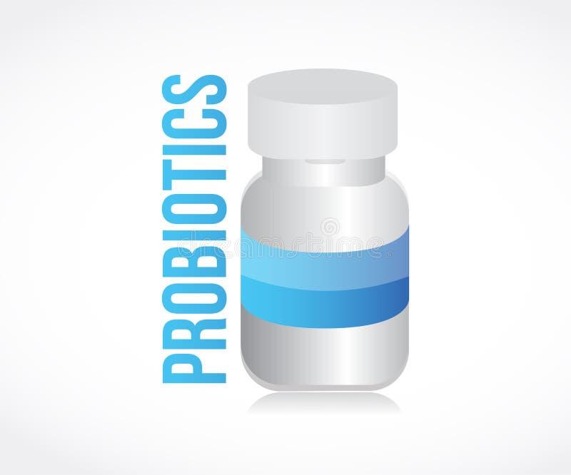 probioticspreventivpillerkrus vektor illustrationer