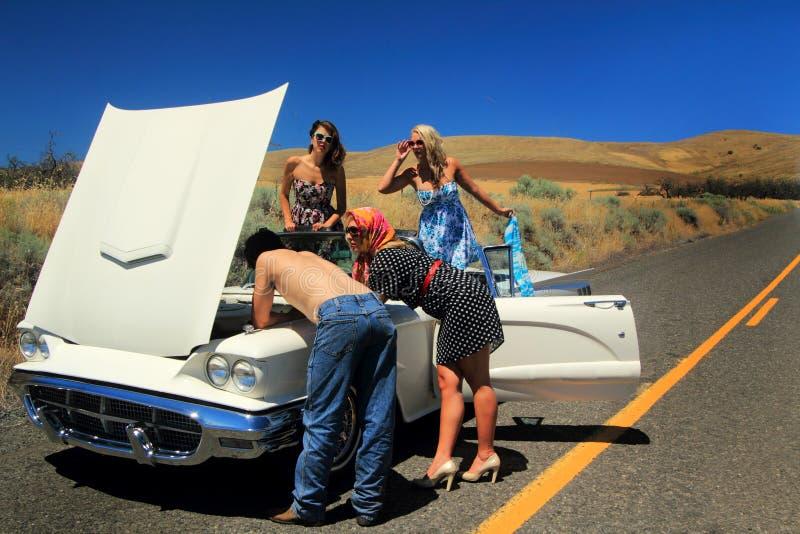 Problème échoué de voiture photos stock