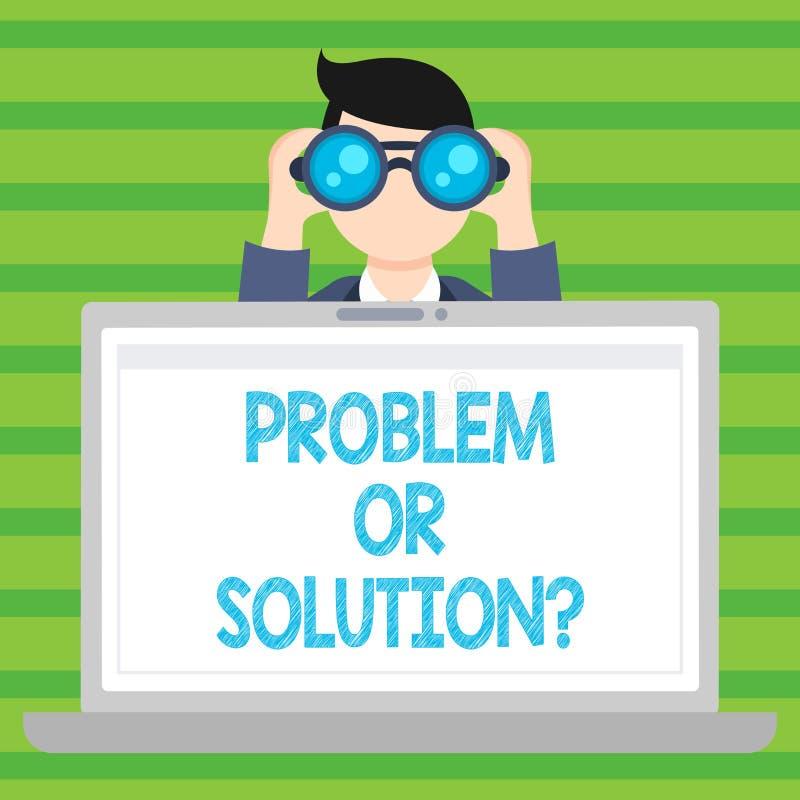 Problème conceptuel ou Solutionquestion d'apparence d'écriture de main Le texte de photo d'affaires pensent résolvent l'analyse r illustration libre de droits
