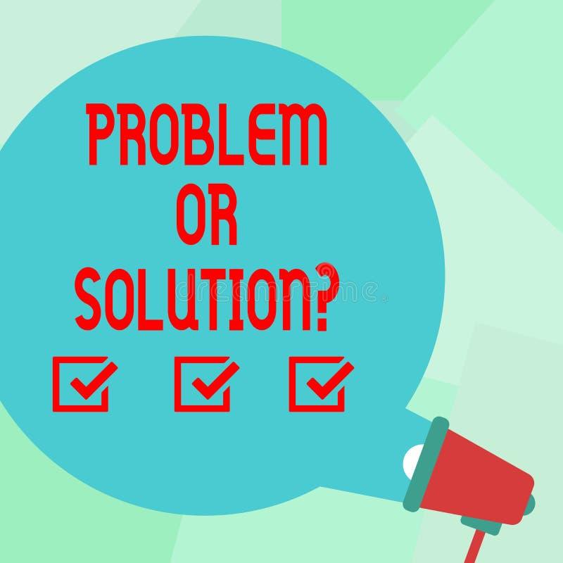Problème conceptuel ou Solutionquestion d'apparence d'écriture de main Le texte de photo d'affaires pensent résolvent l'analyse r illustration stock
