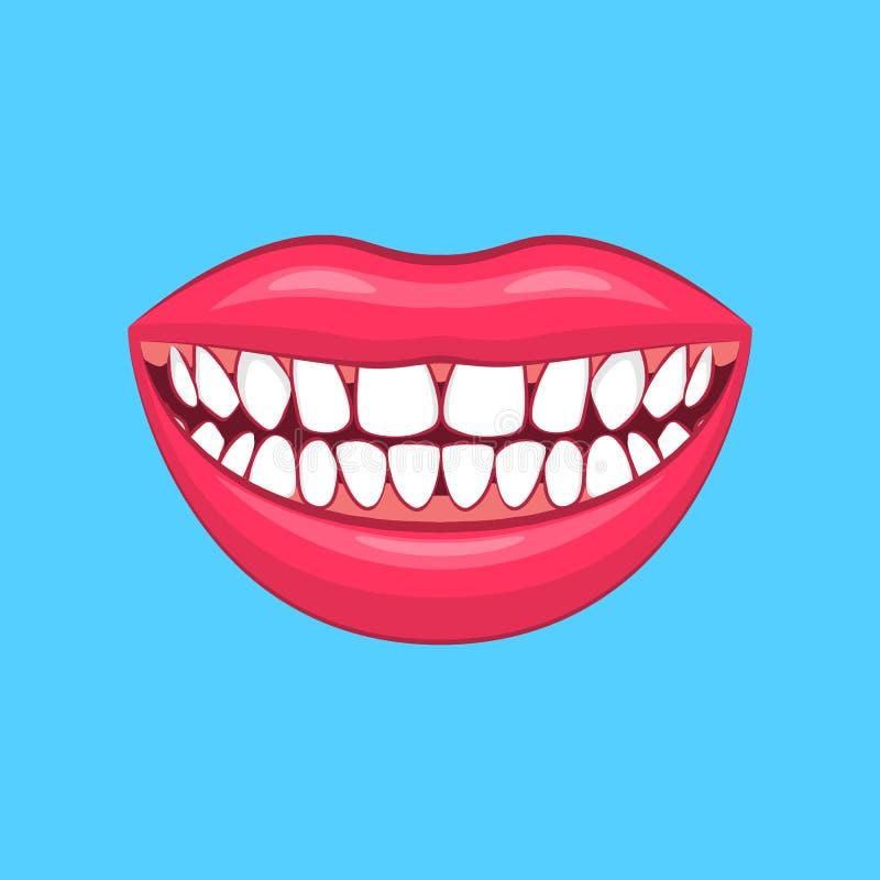 Problème 3d dentaire détaillé réaliste sur un bleu Vecteur illustration stock
