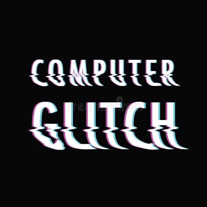 Problème d'ordinateur illustration stock