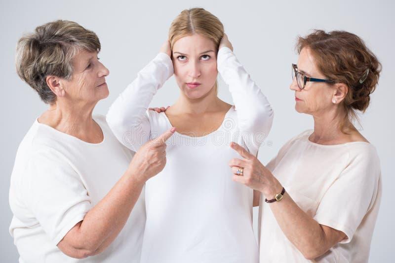 Problème dans le ménage multigenerational images stock