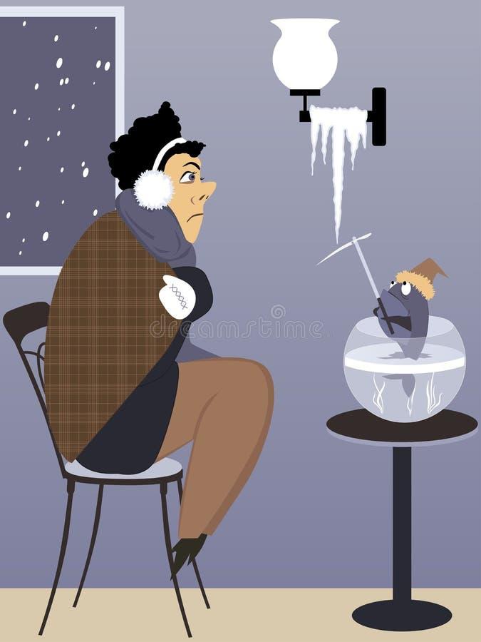 Problème de chauffage illustration de vecteur