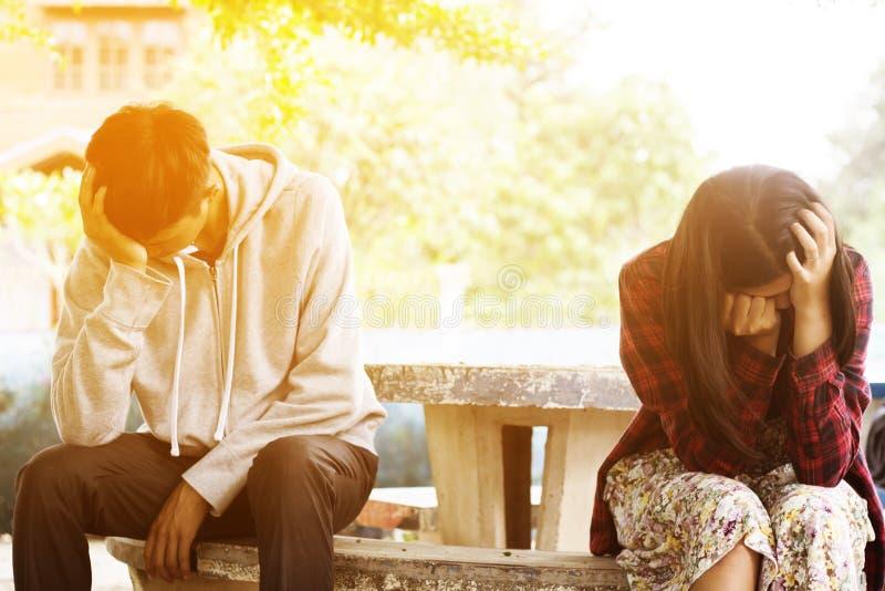Problème de couples photographie stock libre de droits