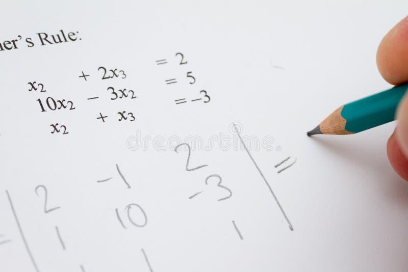 Problème de maths photo libre de droits