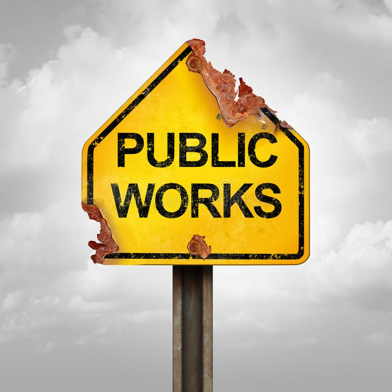 Problème de travaux publics illustration stock